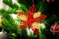 An accessory for decoration on  christmas tree Stock Image