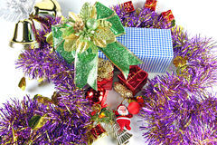 Accessory decorations in Christmas. Royalty Free Stock Photo