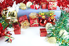 Accessory decorations in Christmas. Royalty Free Stock Images
