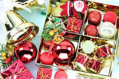 Accessory decorations of Christmas or New Year. Royalty Free Stock Photo