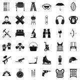 Accessory equipment icons set, simple style. Accessory equipment icons set. Simple set of 36 accessory equipment vector icons for web isolated on white Royalty Free Stock Images