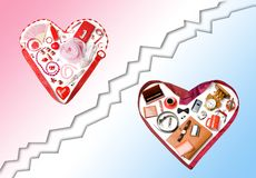 Accessory hearts Royalty Free Stock Photos
