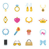 Accessory icons Royalty Free Stock Photo