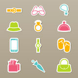 Accessory icons set  Royalty Free Stock Photography