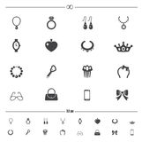 Accessory icons vector Royalty Free Stock Photography