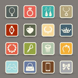 Accessory icons vector Stock Photography