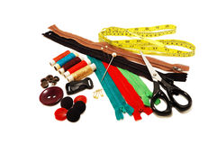 Accessory Kit for sewing Royalty Free Stock Photography
