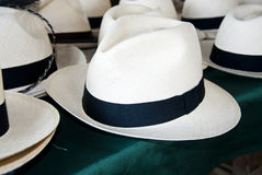 Accessory - Panama Hats Royalty Free Stock Image