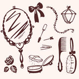 Accessory set for beauty Royalty Free Stock Images