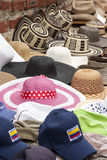 Accessory - Summer hats. Accessory -Summer hats for ladies and gentlemen in South America Stock Photography