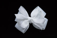 Accessory - white bow Royalty Free Stock Photography