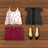 Accessory womenswear design. Illustration eps10 graphic Royalty Free Stock Photo