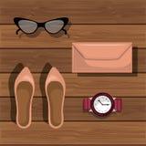 Accessory womenswear design. Illustration eps10 graphic Stock Image