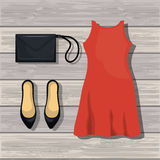 Accessory womenswear design Stock Images