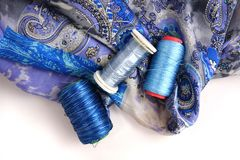 Accessotires de Multicolores pour la couture Photo libre de droits