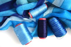 Accessotires de Multicolores pour la couture Photographie stock libre de droits