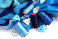 Accessotires de Multicolores pour la couture Photos libres de droits