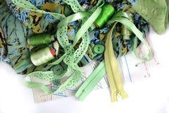 Accessotires de Multicolores pour la couture Images libres de droits