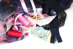 Accessotires de Multicolores pour la couture Image libre de droits