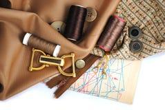 Accessotires de Multicolores pour la couture Images stock