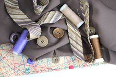Accessotires de Multicolores pour la couture Photographie stock