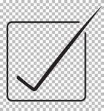 Accetti l'icona isolata su fondo trasparente accetti il simbolo Immagini Stock