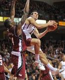 Acción 2011-12 del baloncesto del NCAA Imagen de archivo libre de regalías