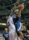 Acción 2011-12 del baloncesto del NCAA Imágenes de archivo libres de regalías