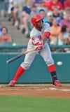 Acción 2012 del béisbol de la liga menor Fotografía de archivo libre de regalías