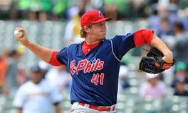 Acción 2012 del béisbol de la liga menor Fotos de archivo