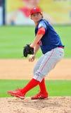 Acción 2012 del béisbol de la liga menor Foto de archivo libre de regalías