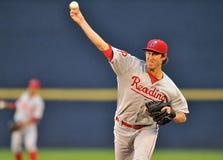 Acción 2012 del béisbol de la liga menor Fotos de archivo libres de regalías