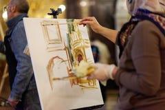 Acción Angel Wings en la catedral de Cristo el salvador Imagen de archivo libre de regalías
