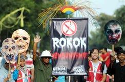 Acción anti del cigarrete Fotos de archivo