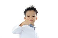 Acción asiática del muchacho Imágenes de archivo libres de regalías