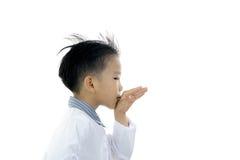 Acción asiática del muchacho Fotografía de archivo libre de regalías