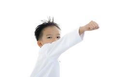 Acción asiática del muchacho Fotografía de archivo
