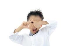 Acción asiática del muchacho Imagenes de archivo