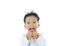 Acción asiática del muchacho Foto de archivo