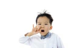 Acción asiática del muchacho Fotos de archivo