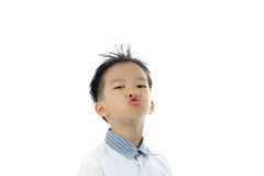 Acción asiática del muchacho Foto de archivo libre de regalías