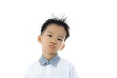 Acción asiática del muchacho Imagen de archivo