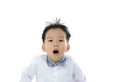 Acción asiática del muchacho Imagen de archivo libre de regalías