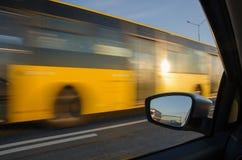 Acción borrosa del coche Imagen de archivo libre de regalías
