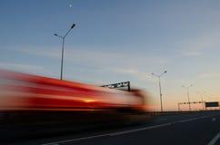 Acción borrosa en la velocidad Foto de archivo