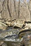 Acción congelada cascada Fotografía de archivo