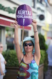 Acción contra ley del anti-abortion Fotografía de archivo libre de regalías