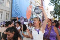 Acción contra ley del anti-abortion Foto de archivo