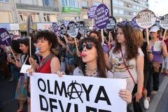 Acción contra ley del anti-abortion Fotografía de archivo