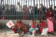 Acción CPN-UML contra el partido mao3ista en Nepal Foto de archivo